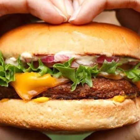 Beyond Meat is a popular plant-based burger choice